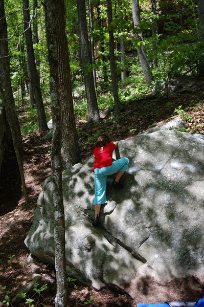 Rock Climbing Photo: Climb left side of slab.