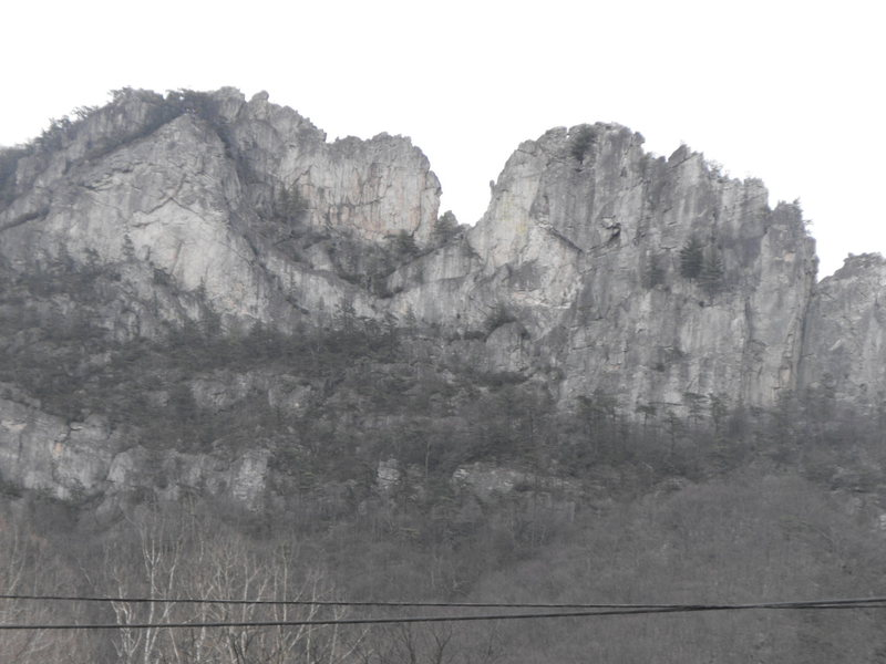 Rock Climbing Photo: Seneca rock