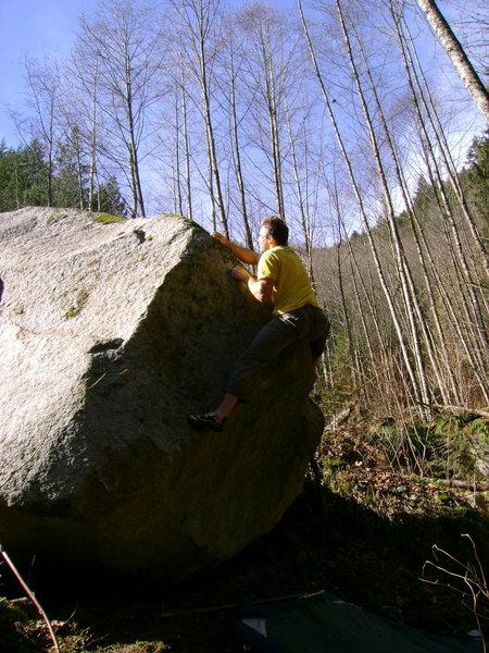 Rock Climbing Photo: FA of Suckerfish