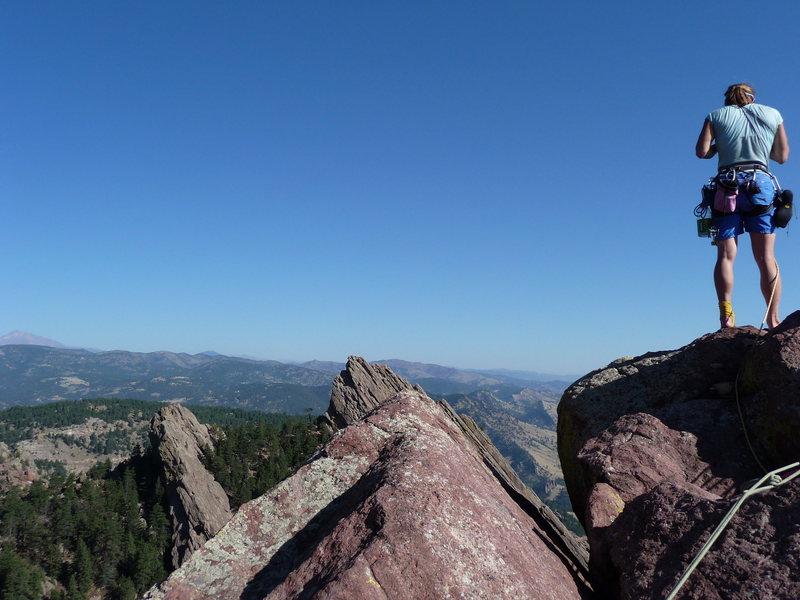 Rock Climbing Photo: with Rhonda at the top