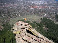 Rock Climbing Photo: toward the summit