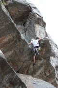Rock Climbing Photo: Pitch 2 crux