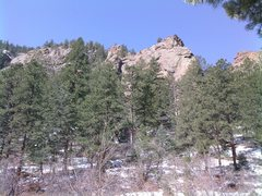 Rock Climbing Photo: Another shot of the east face of the South Buttres...