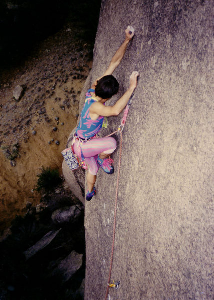 Rock Climbing Photo: JM on Beach Blanket Bingo. FFA, ground up bolt pla...