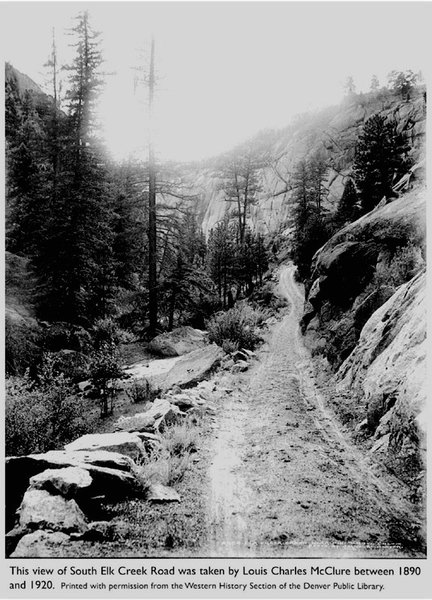Photo: Louis Charles McClure between 1890 & 1920.<br> <br> Fair Use Rationale: This shows historical prominence of this area and rock formation which are of interest in promoting the significant history as well as education for both rock climbing and the natural environment conserved within Colorado.<br> <br> The accompanying comment-article also denotes the proper historical context  significant in education of Colorado's history.