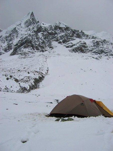 Home for the night on Mount Ausengate, Peru.