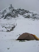 Rock Climbing Photo: Home for the night on Mount Ausengate, Peru.