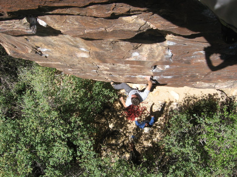Rock Climbing Photo: Tarantula.   photo by Gomoll. belay by Krautstrunk...