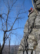 Rock Climbing Photo: HAH! This pictures might make this route look desi...