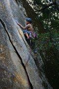 Rock Climbing Photo: Maria firing Peruvian Flake.