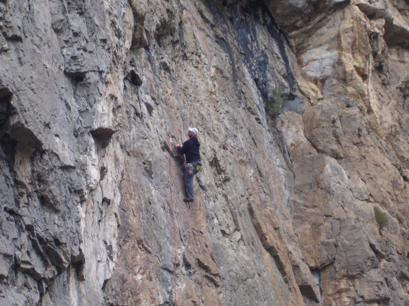 Rock Climbing Photo: This one stays tricky all the way up to the end...