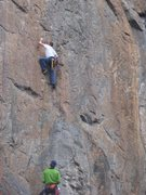Rock Climbing Photo: The route starts in a little left facing corner an...