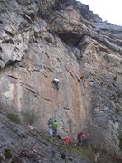 Rock Climbing Photo: It's a good skill to be able to highstep on this r...