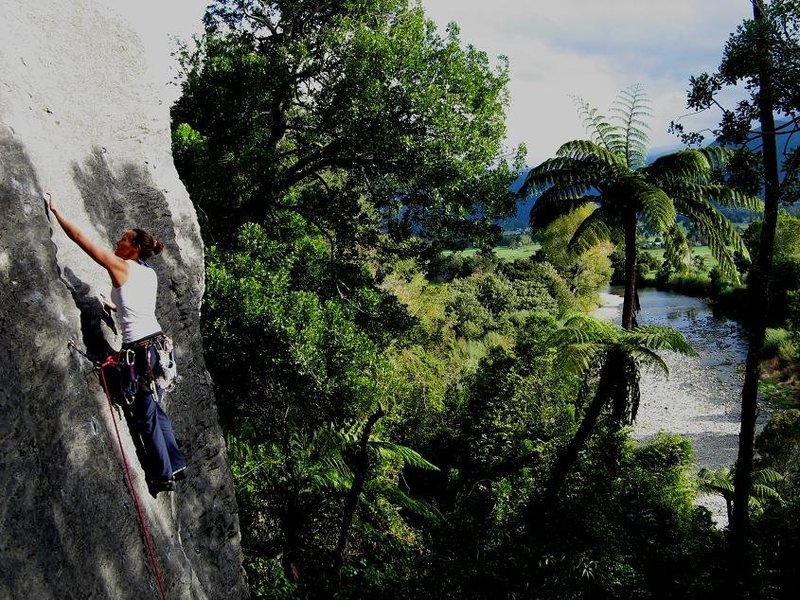 Rock Climbing Photo: searching out the beta passing the second bolt on ...
