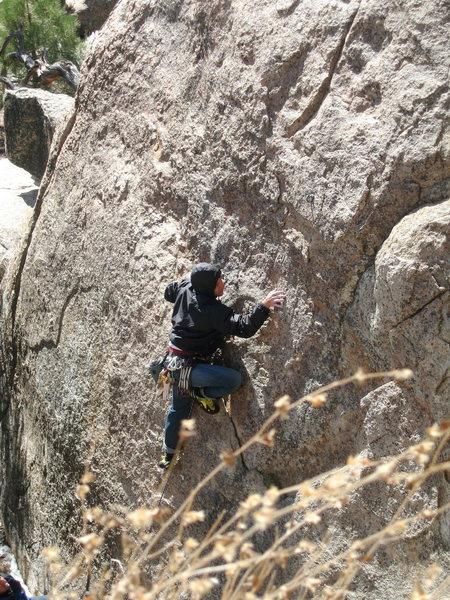 Rock Climbing Photo: Pistol Pete 5.10c