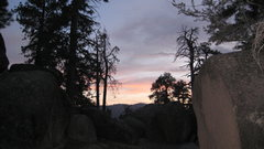 Rock Climbing Photo: Sunset one night from camp at Wilbur's tombstone