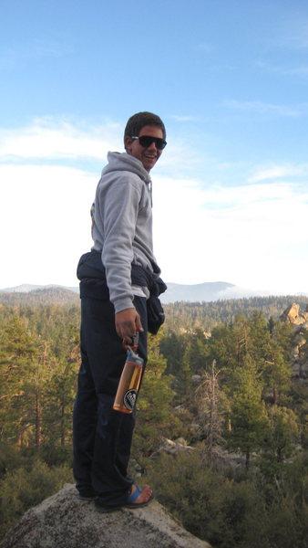 hiking around camp