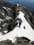 Rock Climbing Photo: Bill Rosqvist on the knife edge.