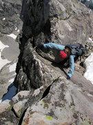 Rock Climbing Photo: Esther Udall having fun.