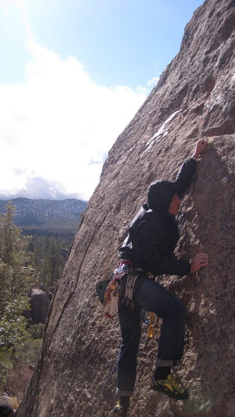 Rock Climbing Photo: First slab section of Pistol Pete