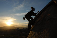 Rock Climbing Photo: lieback on the egg, santee boulders