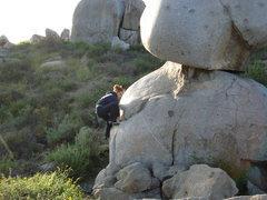 Rock Climbing Photo: light bulb boulder, santee boulders