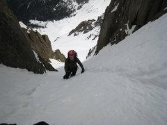 Rock Climbing Photo: Looking down on K.T.