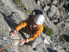 Rock Climbing Photo: On the Culp-Brossier.