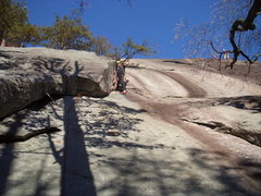 Rock Climbing Photo: One of my friends on dirty crack.