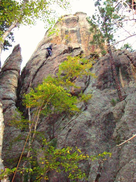 Rock Climbing Photo: Scully following Busse on the F.A.