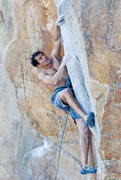 Rock Climbing Photo: aryesh working up the rail