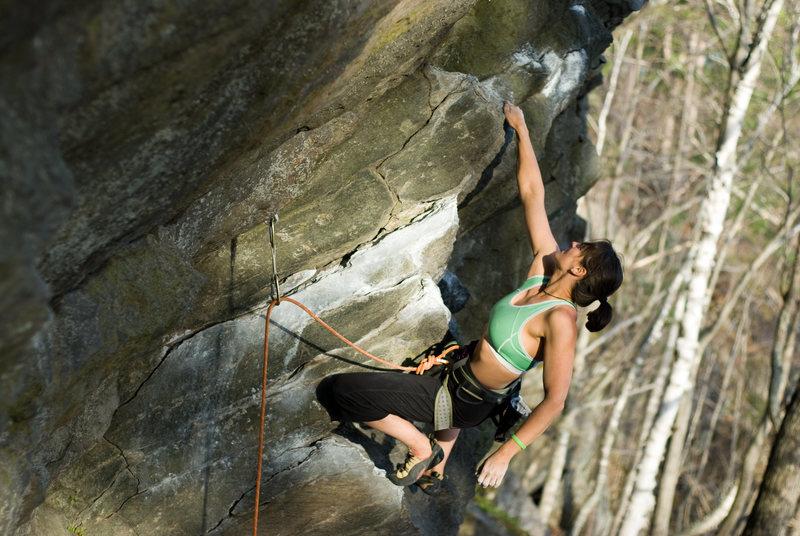 Rock Climbing Photo: hillary on a bonsai classic