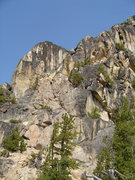 Rock Climbing Photo: General view of the route, following the ridge tha...