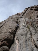 Rock Climbing Photo: Hanging Chad on P1.