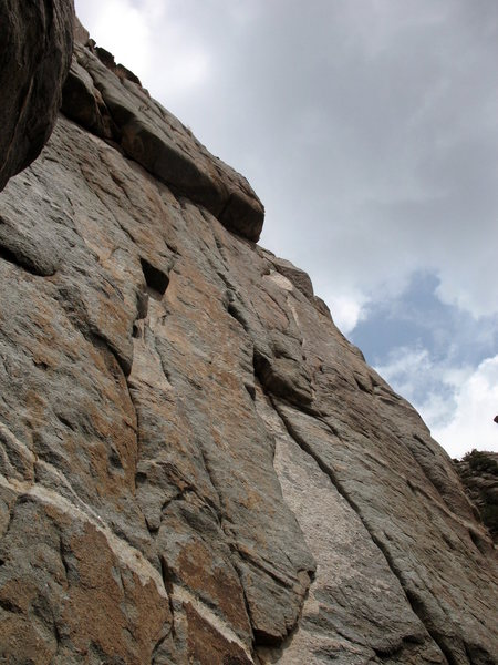 Rock Climbing Photo: Looking up P2.