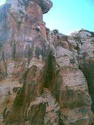 Rock Climbing Photo: High on Bear claw.