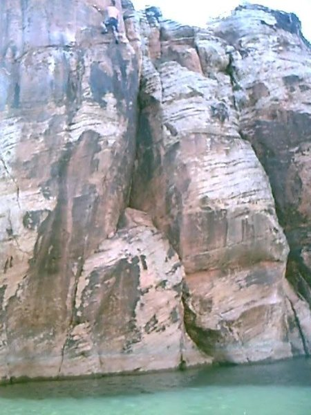 Rock Climbing Photo: The start is down(duh!) and to the left of the cli...