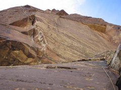 Rock Climbing Photo: Crux moves on Triassic Sands.