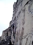 Rock Climbing Photo: Mark R. on 2nd ascent of Day Break, Sunrise Wall.