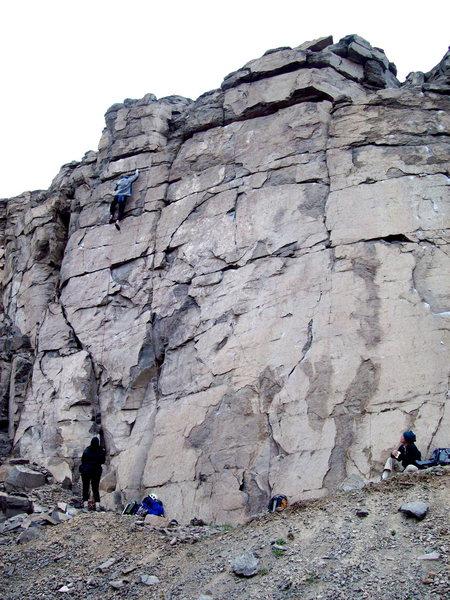 Rock Climbing Photo: Day Break 5.11d, Sunrise Wall, Sea Cliffs.