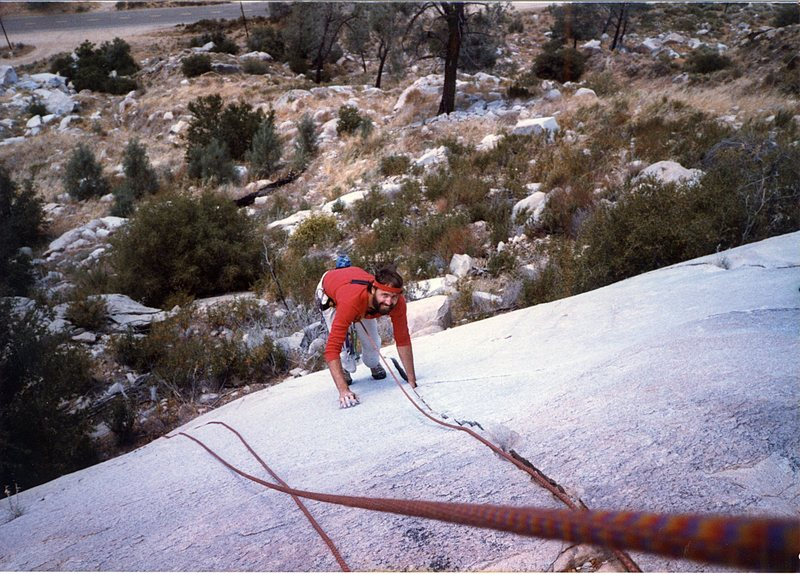 My brother Doug Odenthal at the Kernville slabs in the 80's.