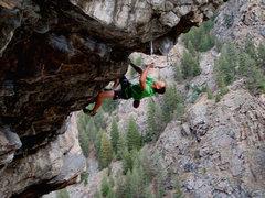 Rock Climbing Photo: Matt Lloyd linking Stone Cold Modern and Head Like...