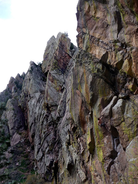 Paying homage to the first ascentionist, climbing the route in his style....