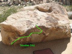 Rock Climbing Photo: Skimbles (V6), Joshua Tree.