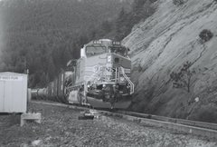 Rock Climbing Photo: Train on Eldorado Mountain.