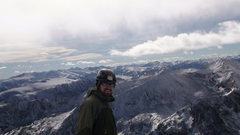 Rock Climbing Photo: On the south summit of Arapahoe peak(13,600)