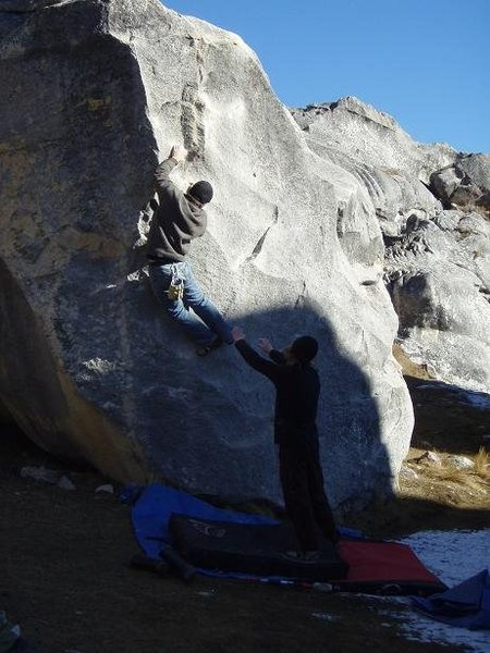 speedy offering beta for the upcoming crux, the edges may be beautiful...but they're also glassy.