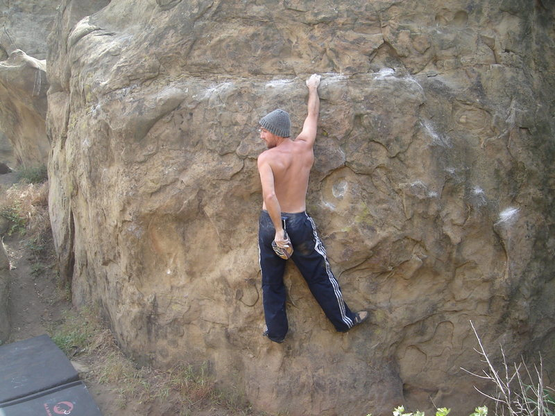 Rock Climbing Photo: Catch a little rest halfway.