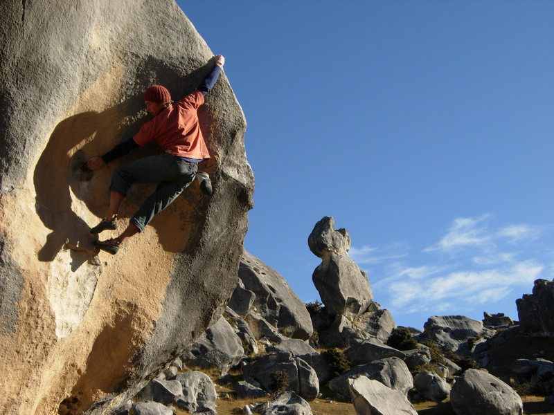 Rock Climbing Photo: This is a highball V4 (I think).