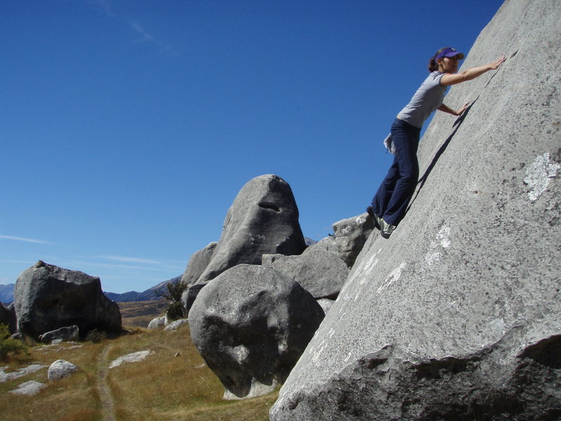 Rock Climbing Photo: variation on Nasal Slip, spittle in the background